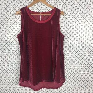 Soft surroundings velvet sleeveless top   size L